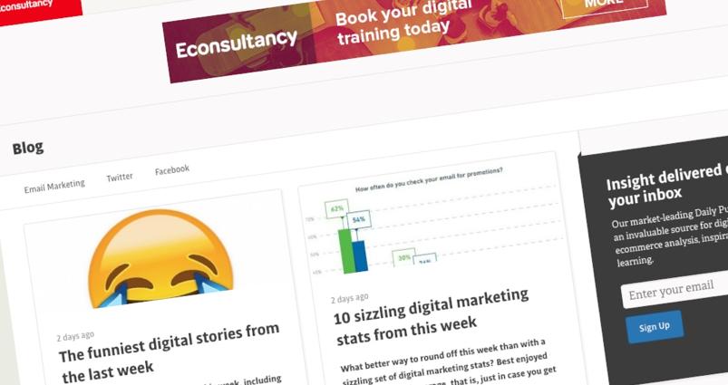 screenshot of e-consultancy blog