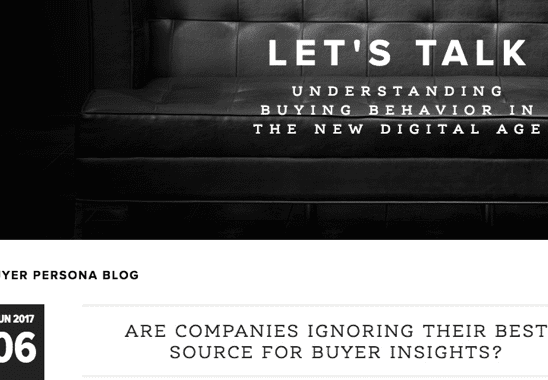Screenshot of Tony Zambito blog
