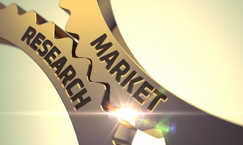 """Cogs labeled """"market research"""" turning"""