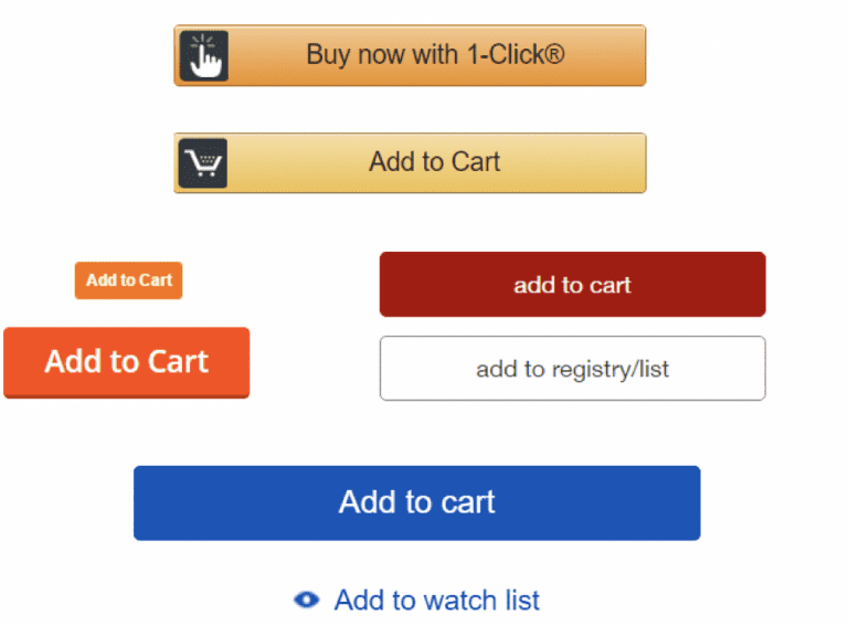 A/B testing multiple call-to-actions for an ecommerce website