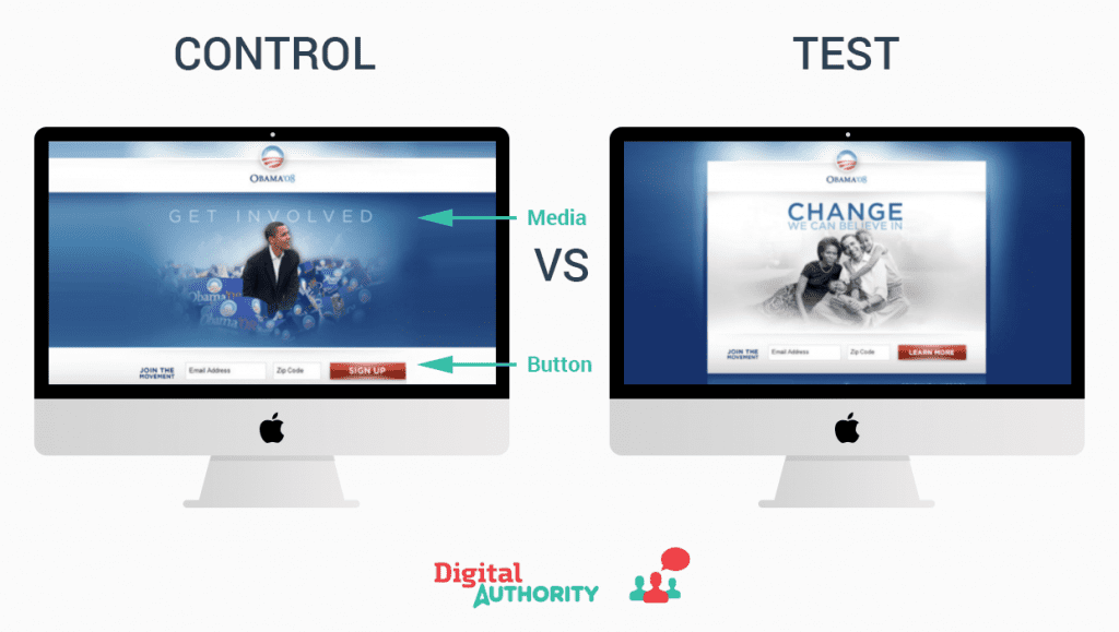 An a/b and multivariate experiment on Obama's campaign's website