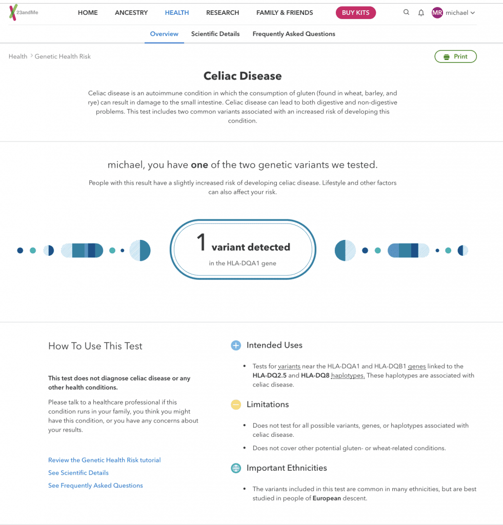 DNA testing and analysis dashboard