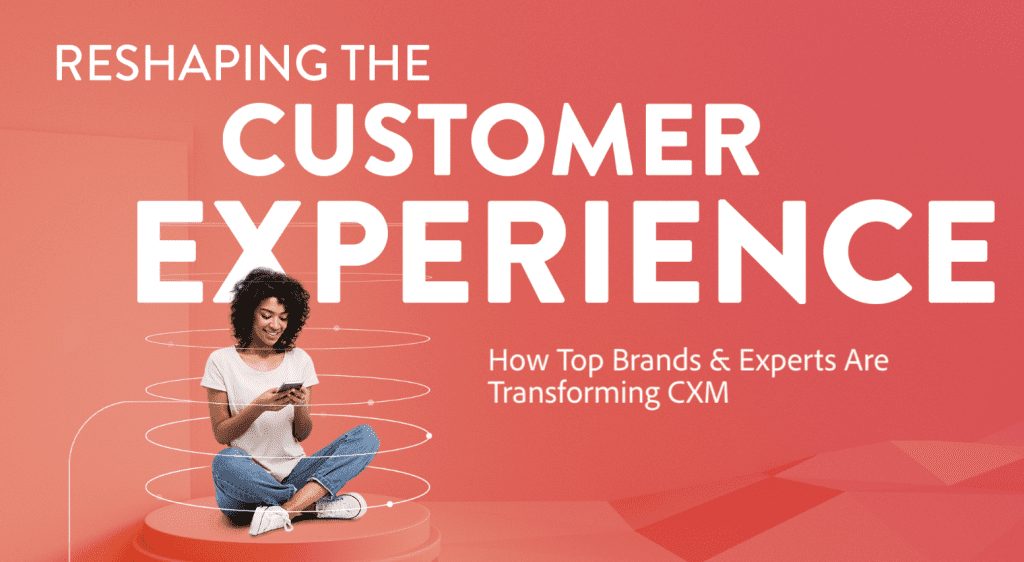 "Banner for Adobe's campaign, ""Reshaping Customer Experience Management"""