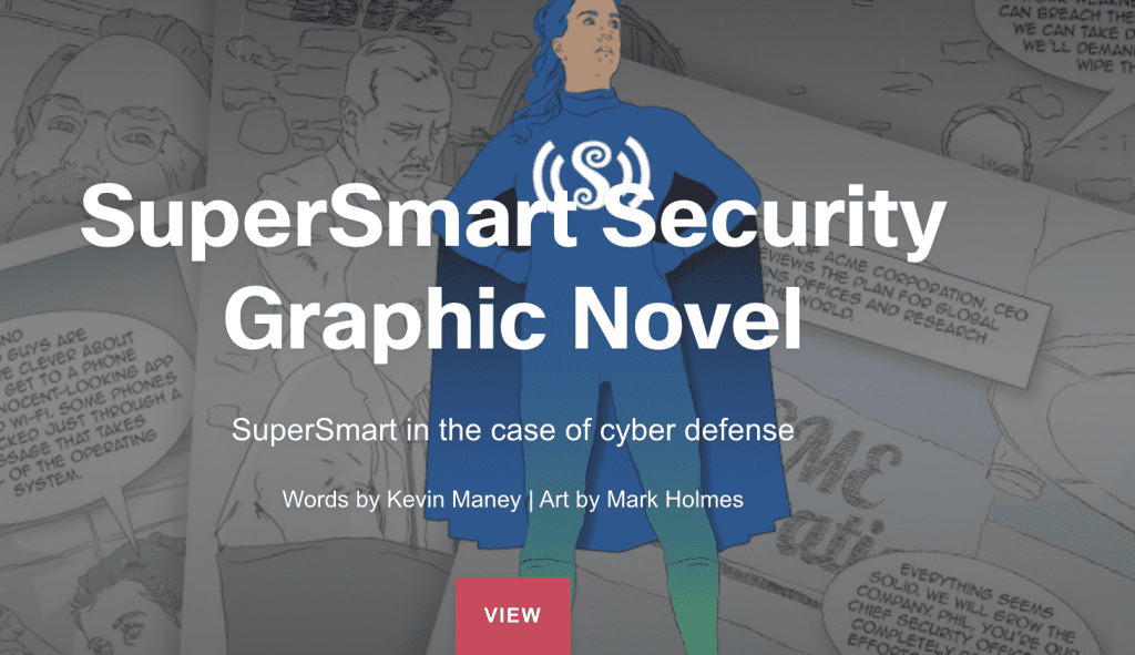 "Cisco's comic-style graphic novel called ""SuperSmart Security."""