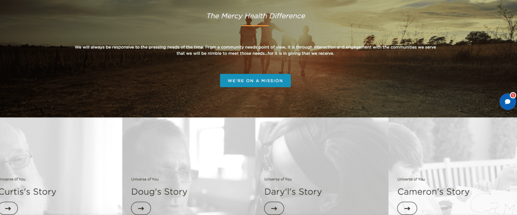 healthcare website that makes the most of its visual impact