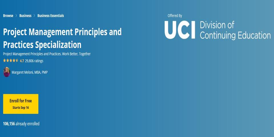 Project Management Principles and Practices Specialization